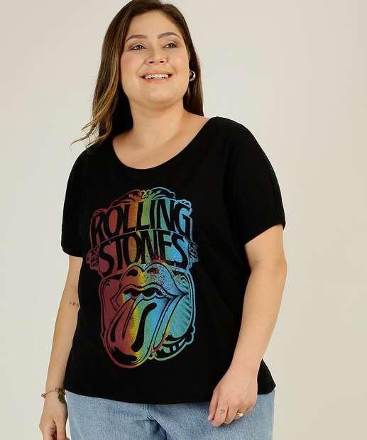 Image_Blusa Plus Size Feminina Estampada Rolling Stones