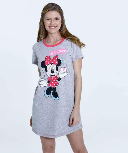 Image_Camisola Feminina Estampa Minnie Manga Curta Disney