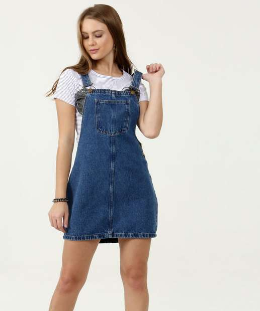 Image_Salopete Feminina Jeans Marisa