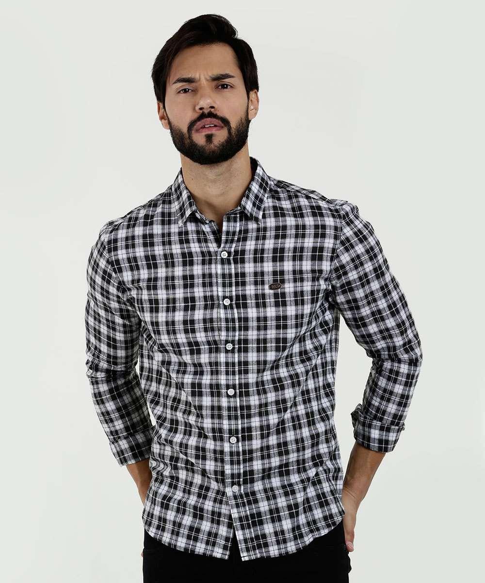 Camisa Masculina Estampa Xadrez Rock & Soda