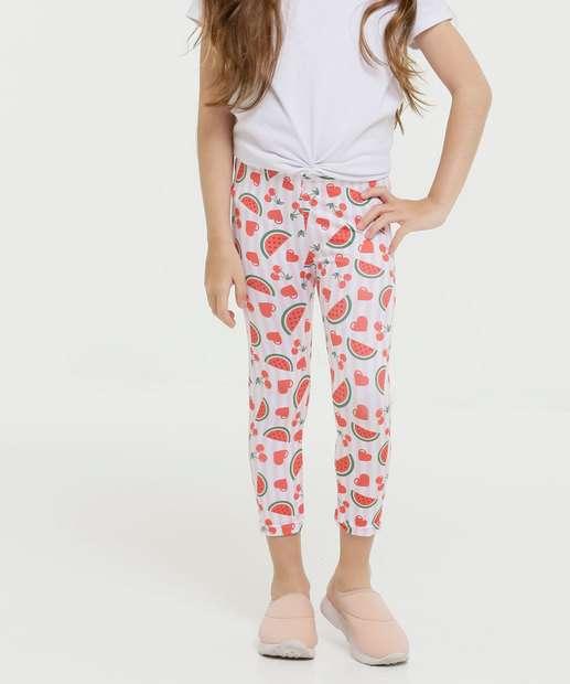 Image_Calça Infantil Legging Estampa Melancia Tam 4 a 8