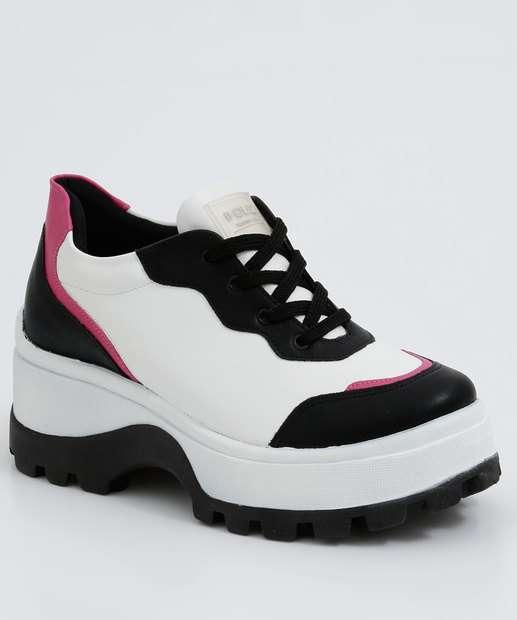 Image_Tênis Feminino Chunky Sneaker Tratorado Recorte Quiz