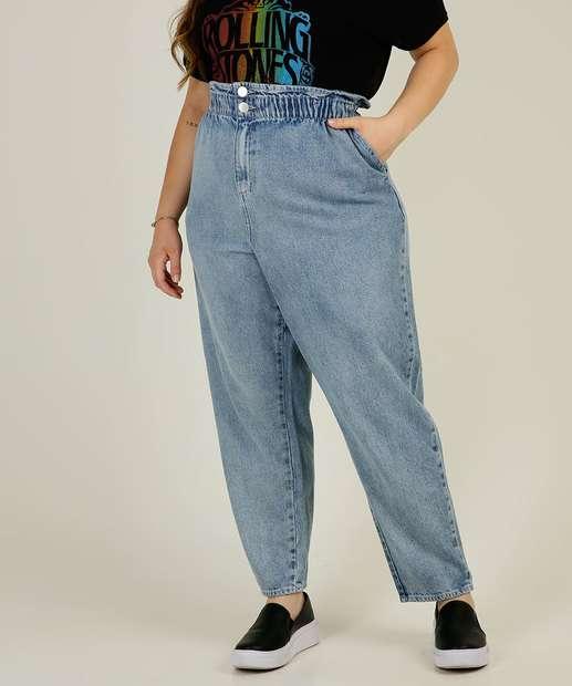 Image_Calça Plus Size Feminina Mom Jeans Bolsos Marisa