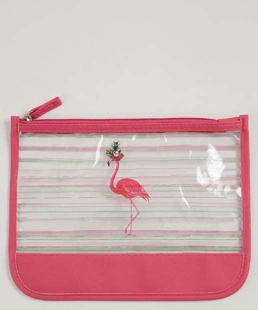 Image_Necessaire Feminina Estampa Flamingo Marisa
