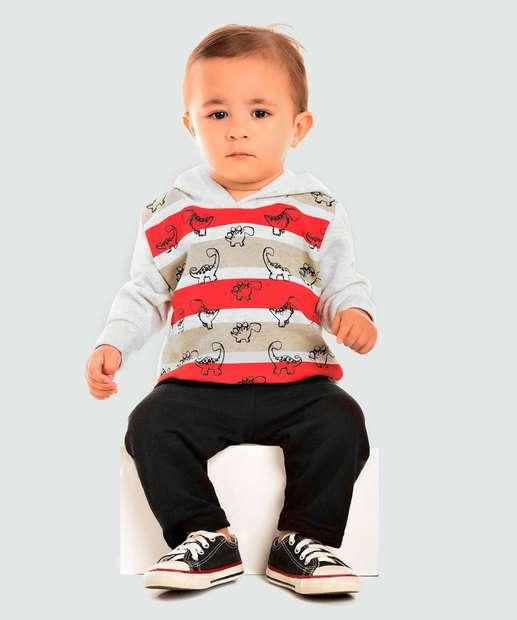 Image_Conjunto Infantil Bebê Moletom Flanelado Trenzinho