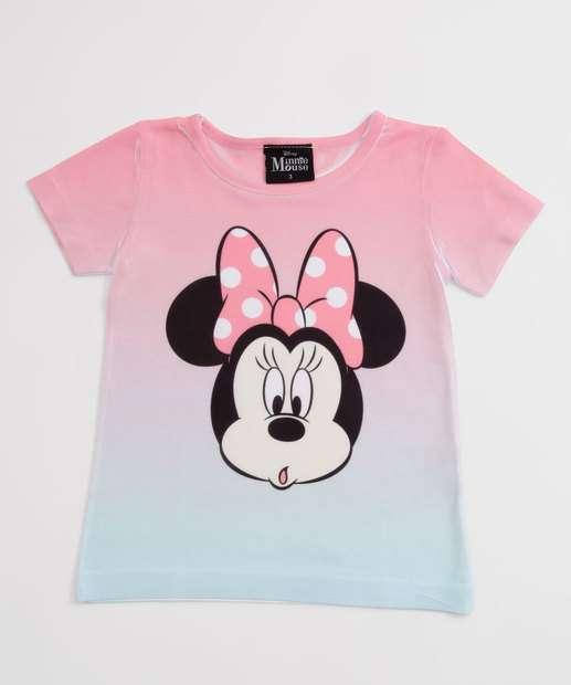 Image_Blusa Infantil Estampa Minnie Manga Curta Disney