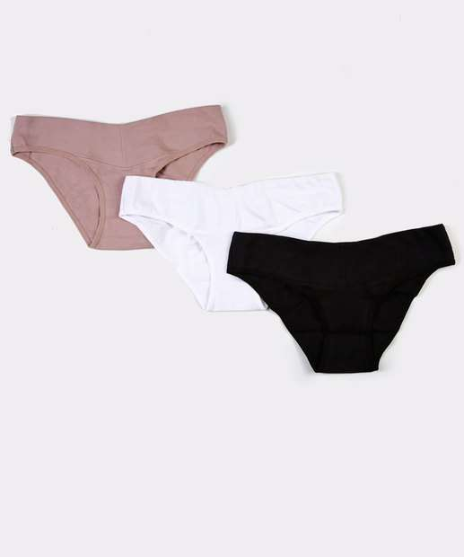 Image_Kit 3 Calcinha Feminina Gestante Tanga Love Secret