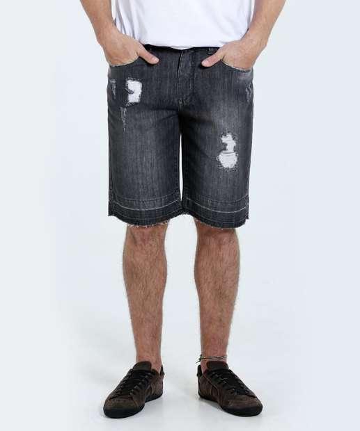 Image_Bermuda Masculina Reta Jeans Puídos Marisa