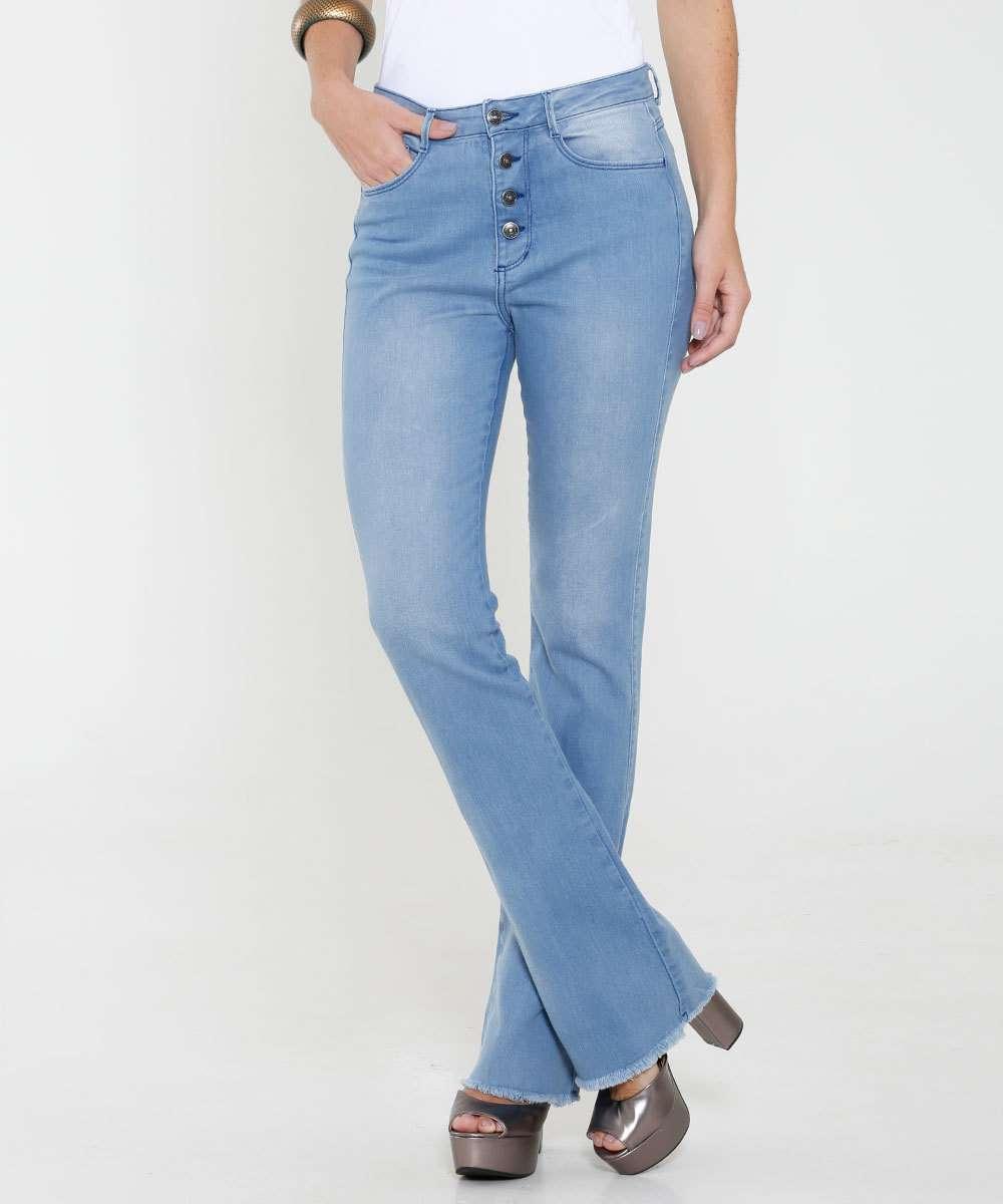 d780333e2c Menor preço em Calça Feminina Jeans Barra Desfiada Flare Marisa