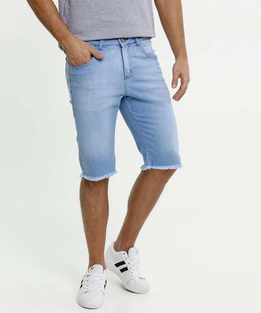 Image_Bermuda Masculina Jeans Barra Desfiada Razon