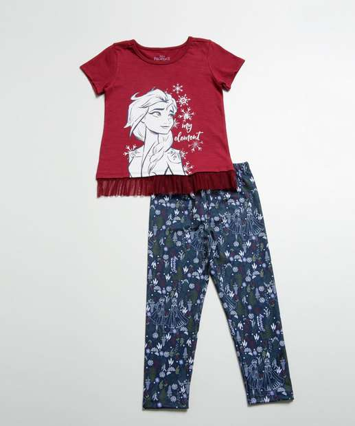 Image_Conjunto Infantil Estampa Frozen Tule Disney