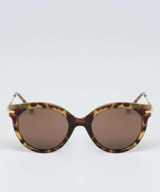 Image_Óculos de Sol Feminino Estampa Animal Print Redondo Marisa