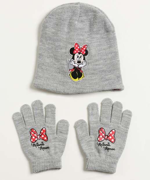 Image_Kit Gorro e Luva Infantil Bordado Minnie Disney