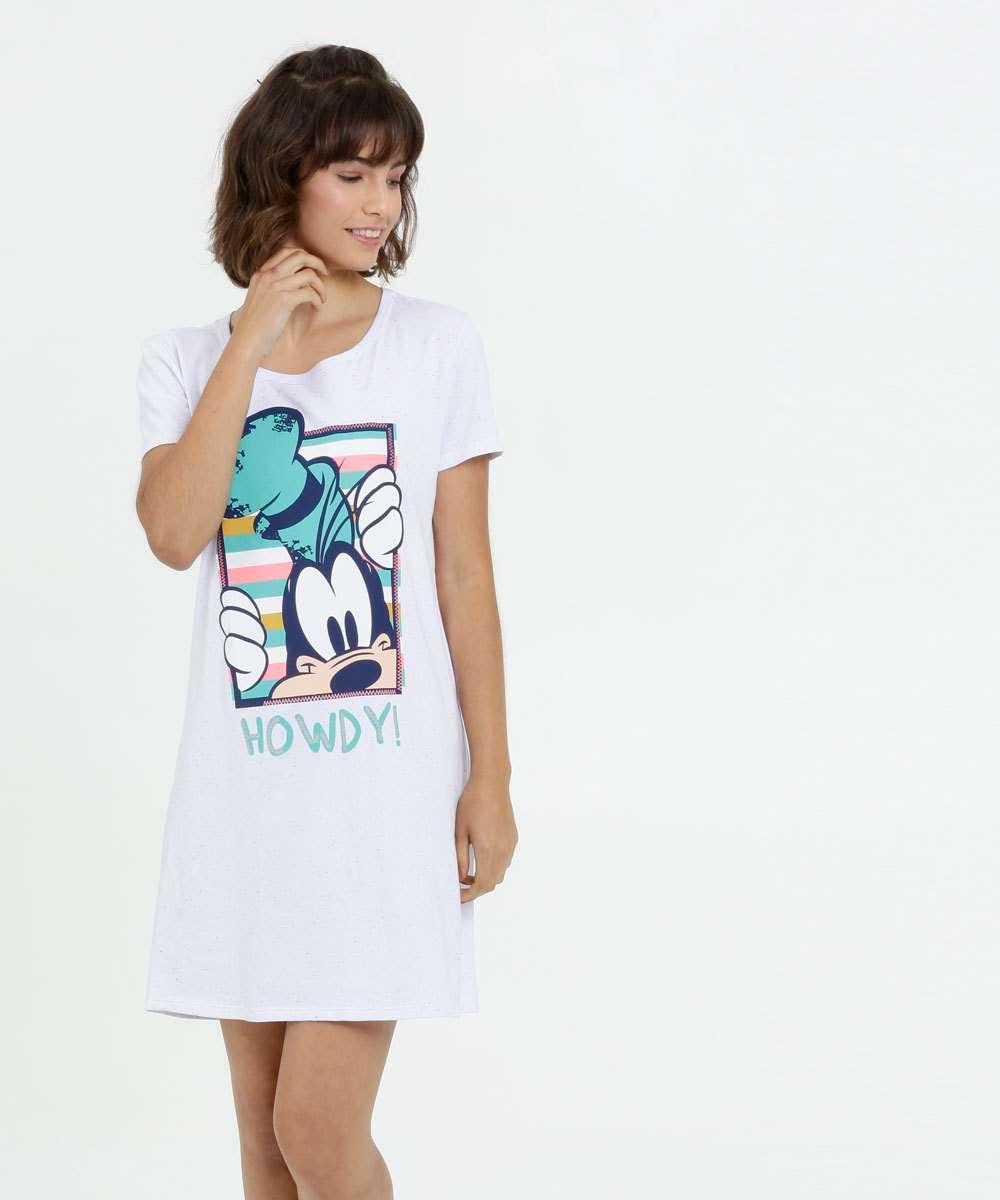 Camisola Feminina Botonê Estampa Pateta Manga Curta Disney