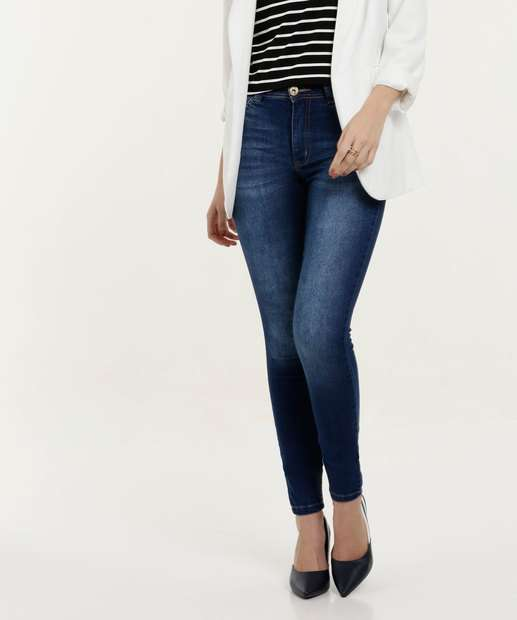 84f9f56a0 Calça Feminina Jeans Skinny Cintura Média Biotipo