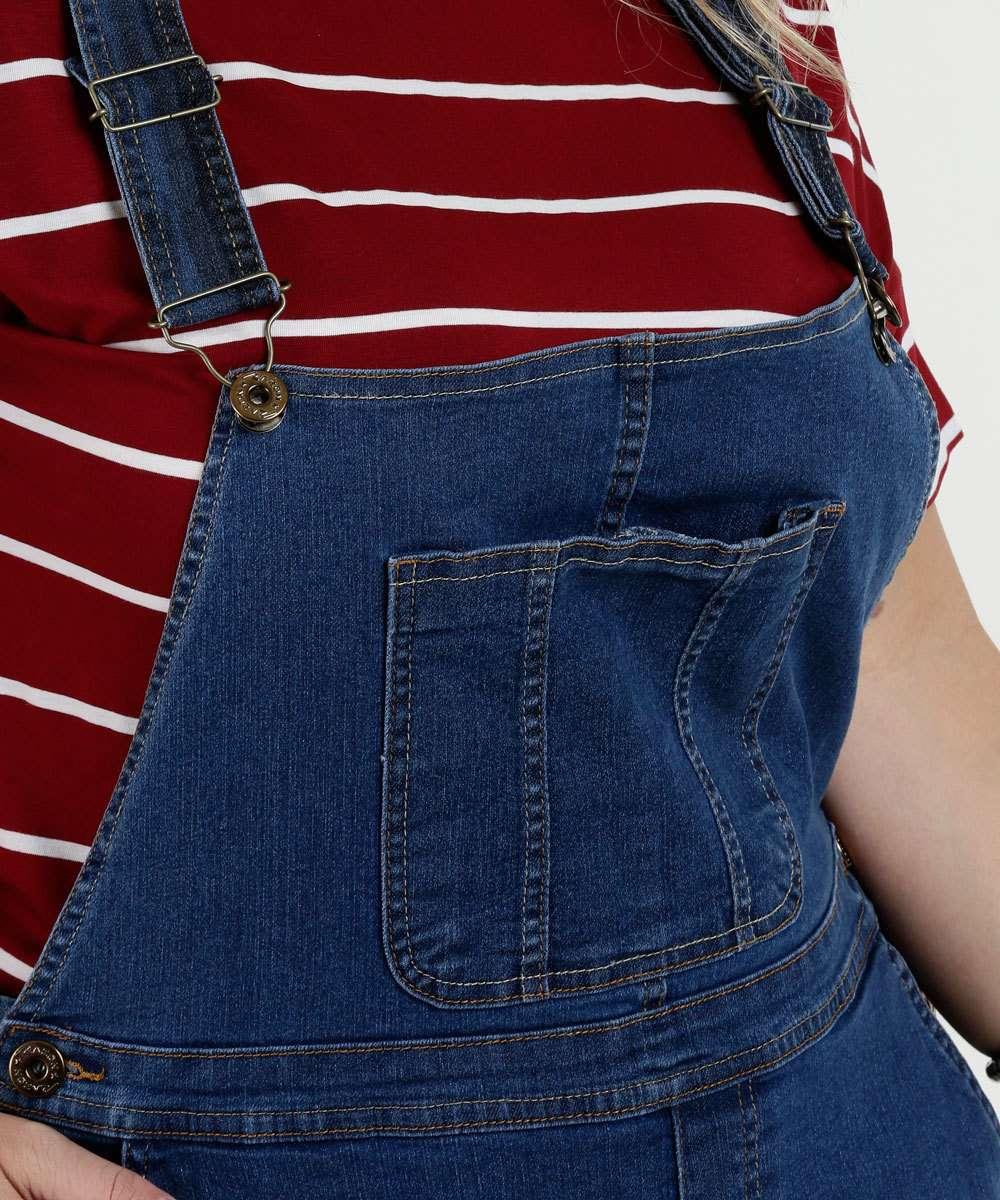 4af7a52a7 1  2  3  4  5  6  7  8. Compartilhar. adicionar aos favoritos produto  favoritado. Jardineira Feminina Plus Size Jeans Razon