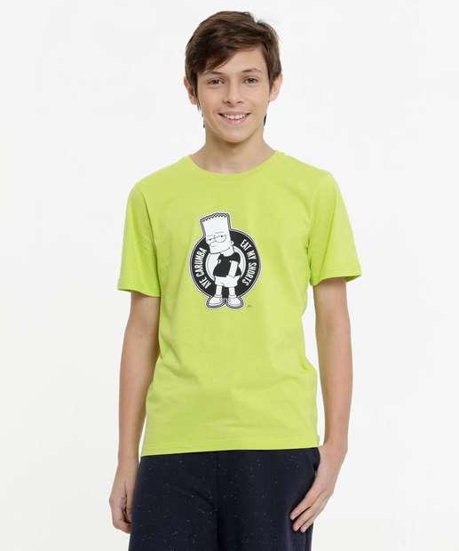 Image_Camiseta Juvenil Manga Curta Simpsons Tam 10 a 16