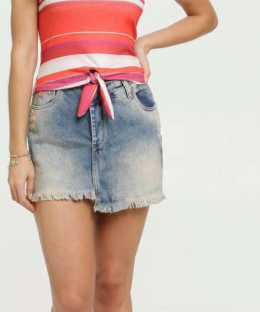 Image_Saia Feminina Assimétrica Barra Desfiada Uber Jeans