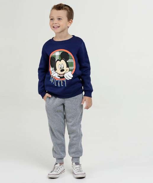 Image_Conjunto Infantil Moletom Estampa Mickey Manga Longa Disney
