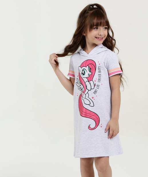 Image_Vestido Infantil Moletinho Capuz My Little Pony Manga Curta Marisa