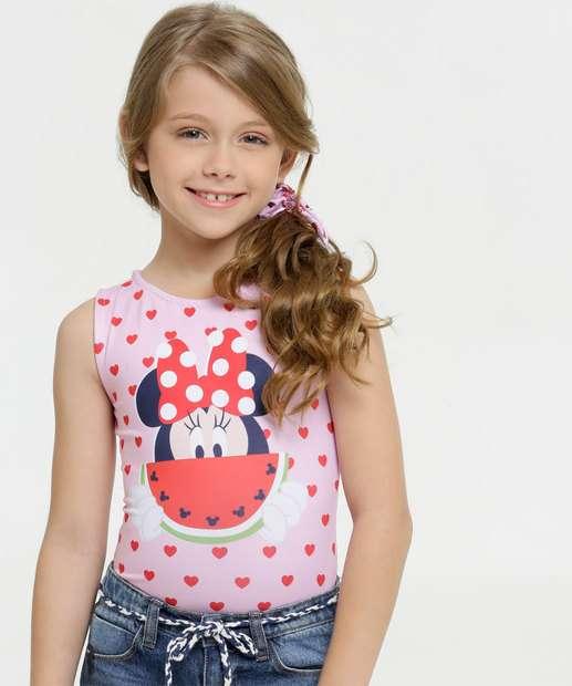 Image_Body Infantil Minnie Sem Manga Brinde Disney
