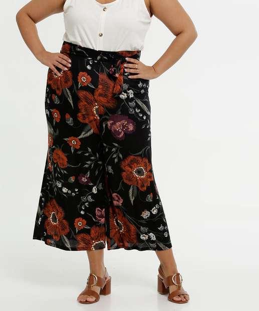 Image_Calça Feminina Pantacourt Estampa Floral Plus Size Marisa