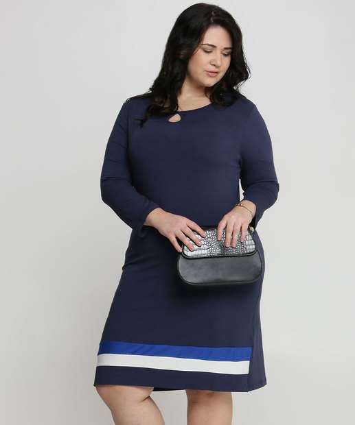 Image_Vestido Feminino Listras Plus Size