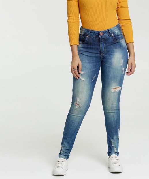 Image_Calça Skinny Destroyed Feminina Zune Jeans By Sabrina Sato