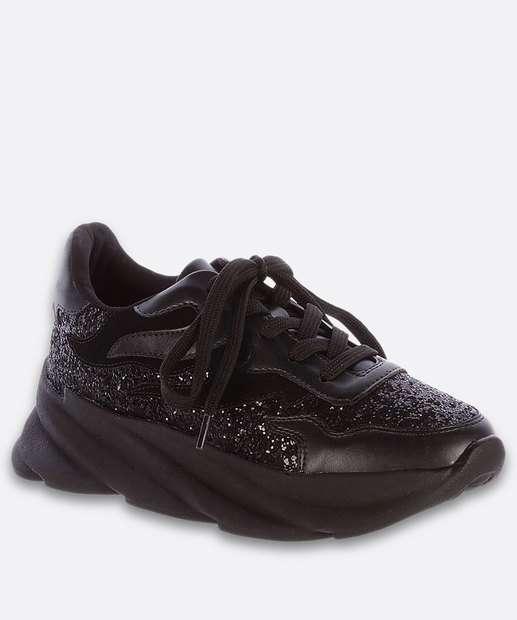 Image_Tênis Feminino Chunky Sneaker Recorte Glitter Zatz