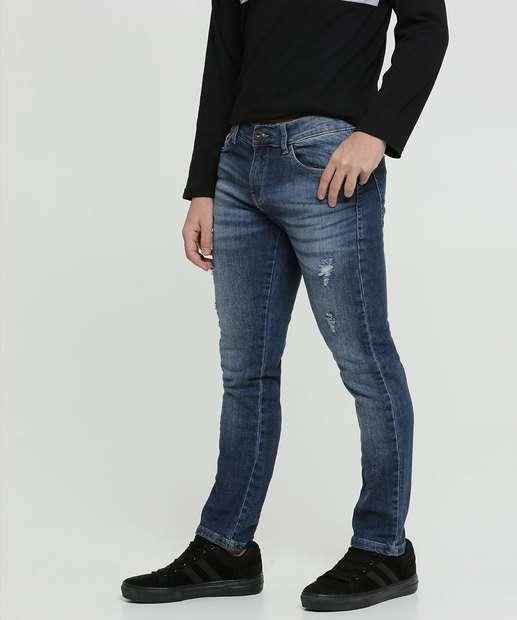 Image_Calça Juvenil Jeans Puídos Skinny Razon