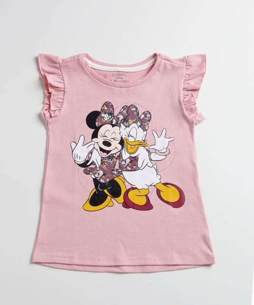 Image_Blusa Infantil Estampa Minnie Margarida Manga Curta Disney