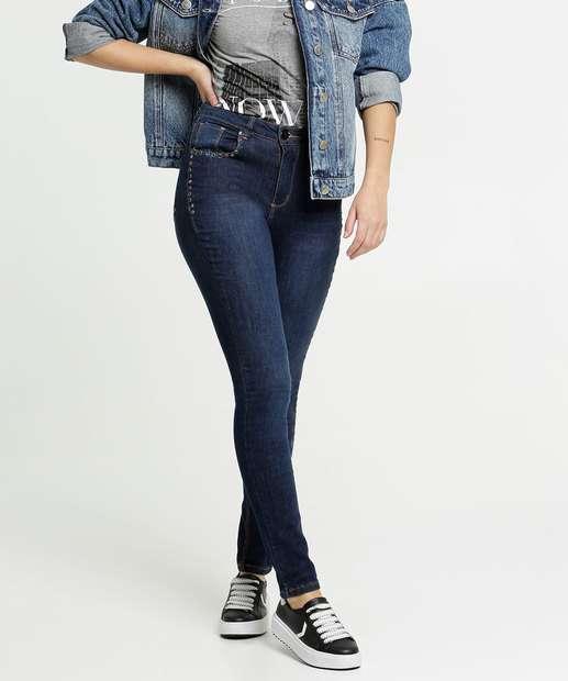 Image_Calça Jeans Skinny Feminina Strass Razon