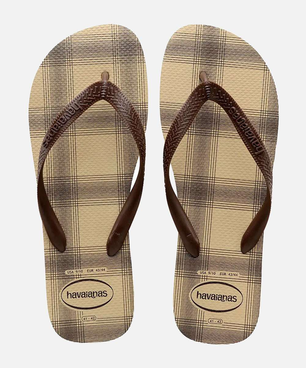 Chinelo Havaianas Masculino Estampa Xadrez Top Basic