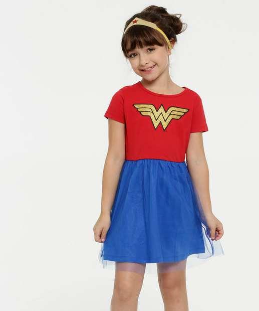 Image_Camisola Infantil Mulher Maravilha Brinde Liga da Justiça