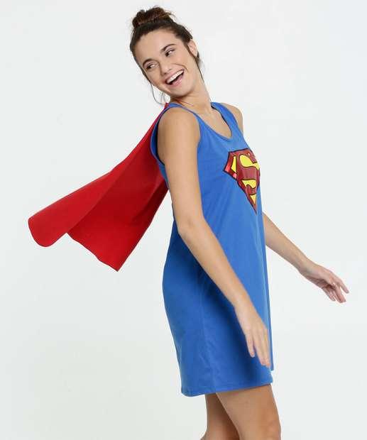 Image_Camisola Feminina Estampa Super Homem Liga da Justiça