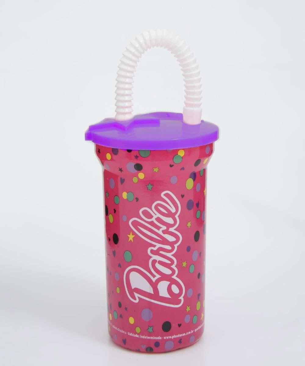 Copo Infantil Estampa Barbie Plasduran 380ml