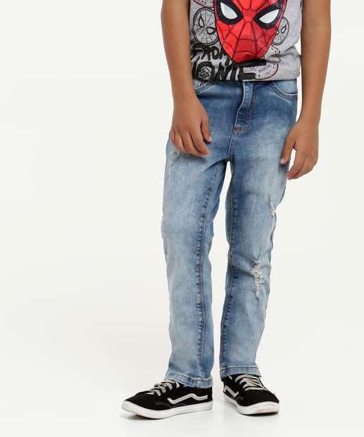 Image_Calça Infantil Jeans Puídos Bolsos MR