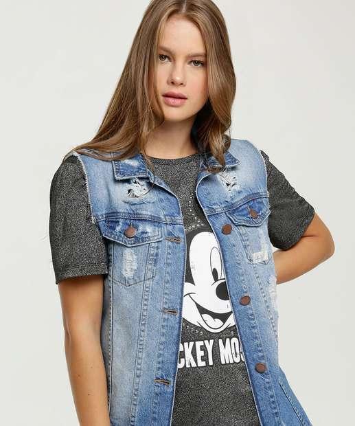Image_Colete Feminino Jeans Destroyed Alongado Marisa