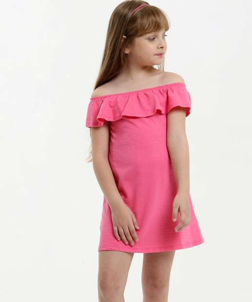 Image_Vestido Infantil Ombro a Ombro Textura Marisa