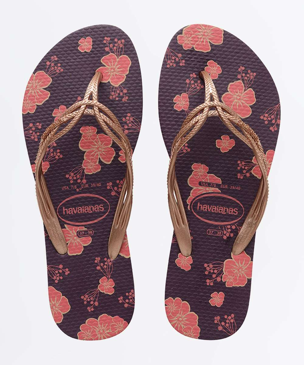 Chinelo Feminino Flash Sweet Estampa Floral Havaianas