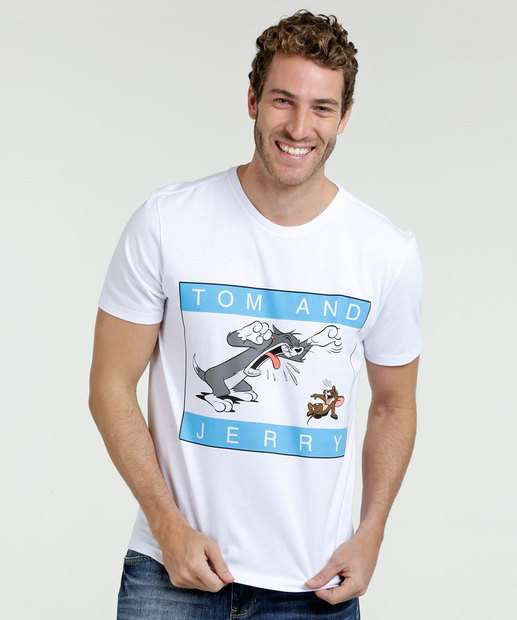 Image_Camiseta Masculina Estampa Tom e Jerry Warner Bros