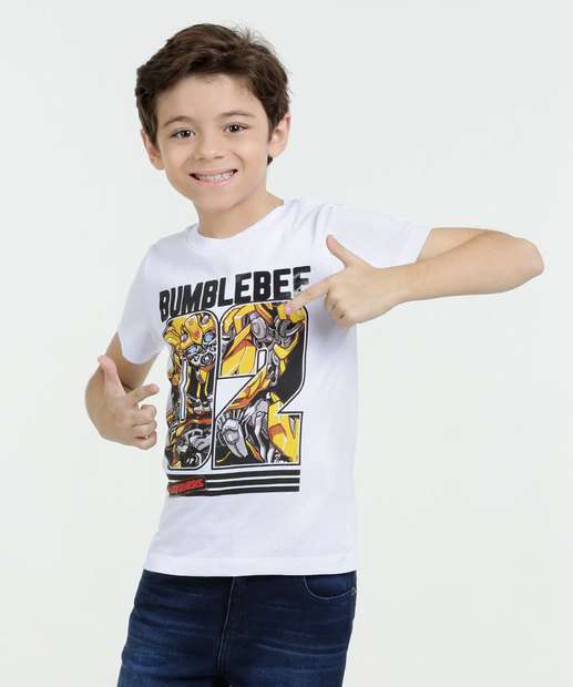 Image_Camiseta Infantil Estampa Transformers Bumblebee  Hasbro