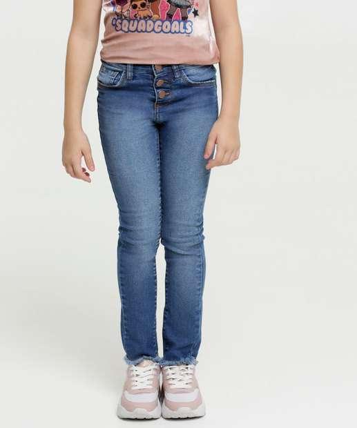Image_Calça Infantil Jeans Botões Marisa