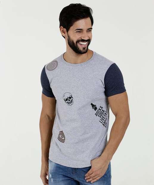 Image_Camiseta Masculina Estampa Frontal Manga Curta Rock & Soda