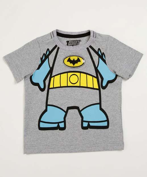 Image_Camiseta Infantil Led Batman Manga Curta Liga da Justiça