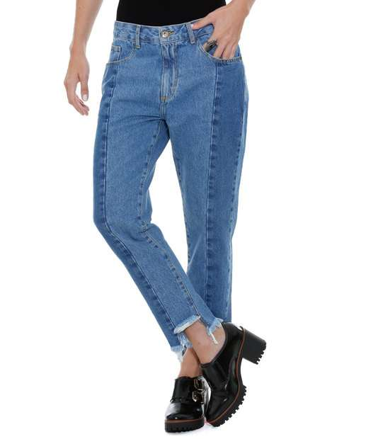 Image_Calça feminina jeans Boyfriend Marisa