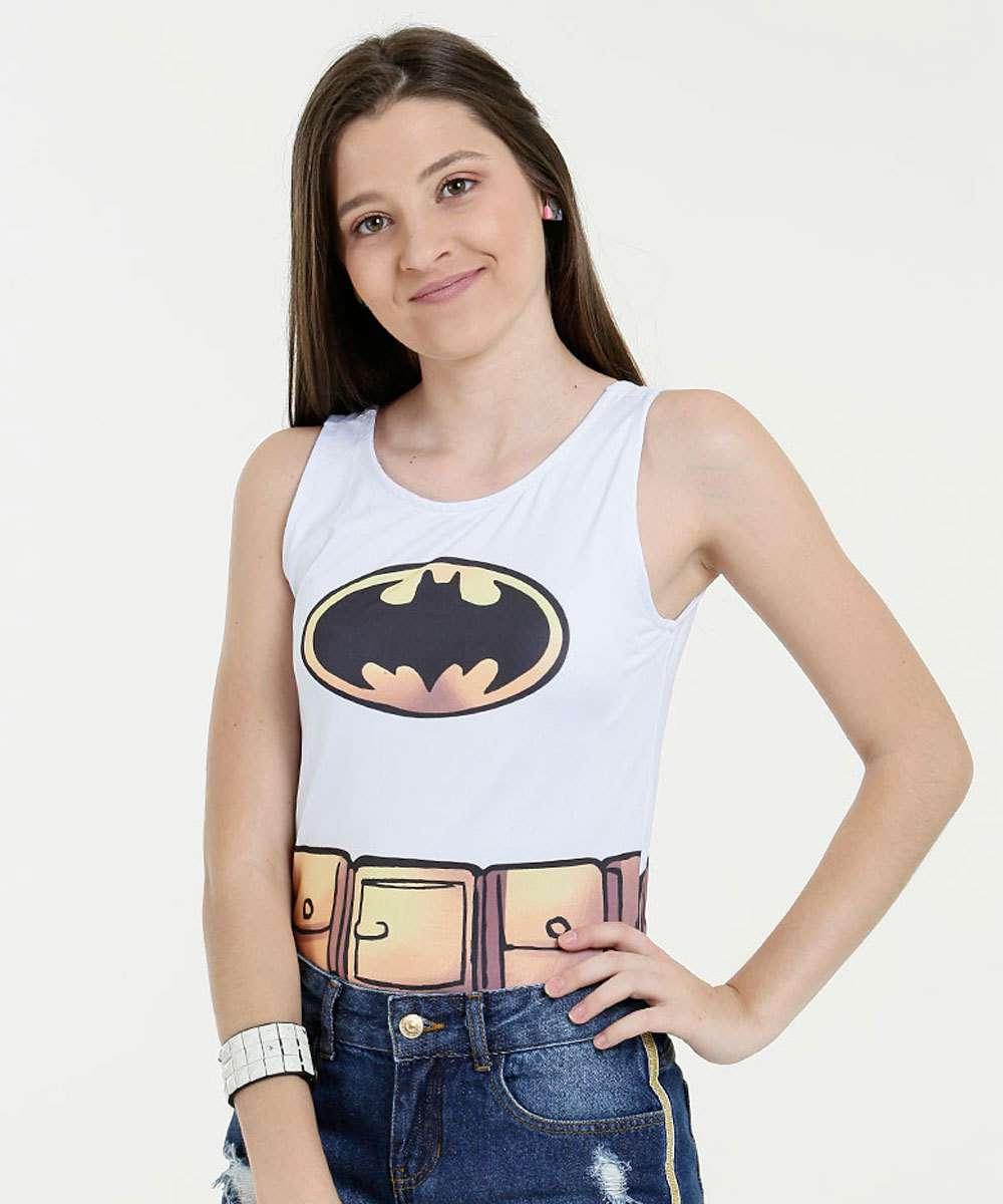Body Juvenil Estampa Batman Liga da Justiça