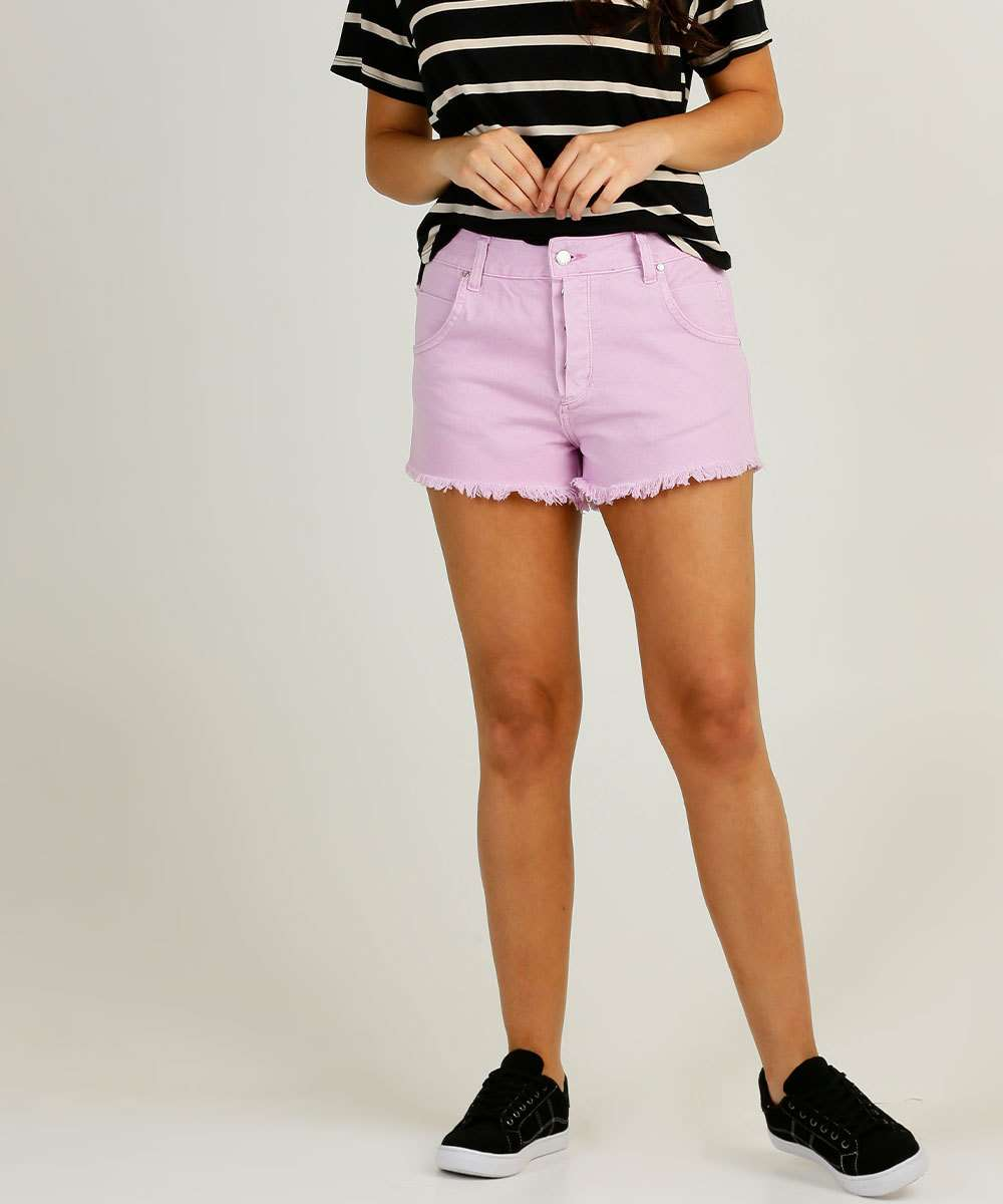Short Feminino Sarja Barra Desfiada Disparate