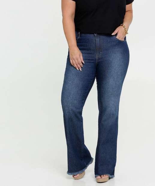 Image_Calça Jeans Flare Feminina Plus Size Gups