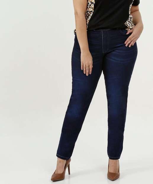 Image_Calça Feminina Jeans Skinny Bolsos Plus Size Razon